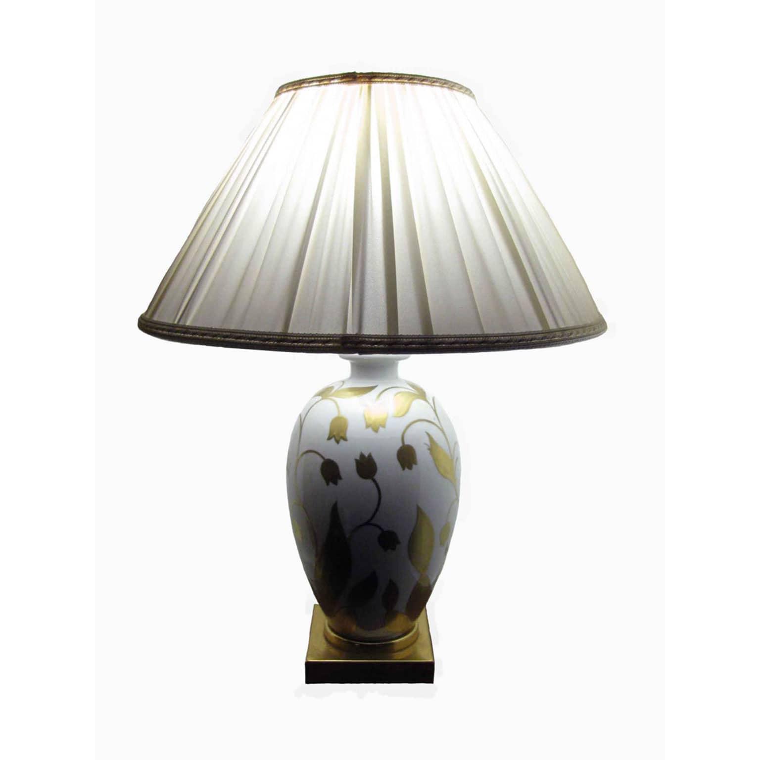 Lampada da tavolo in porcellana bianca oro - Base lampada da tavolo ...