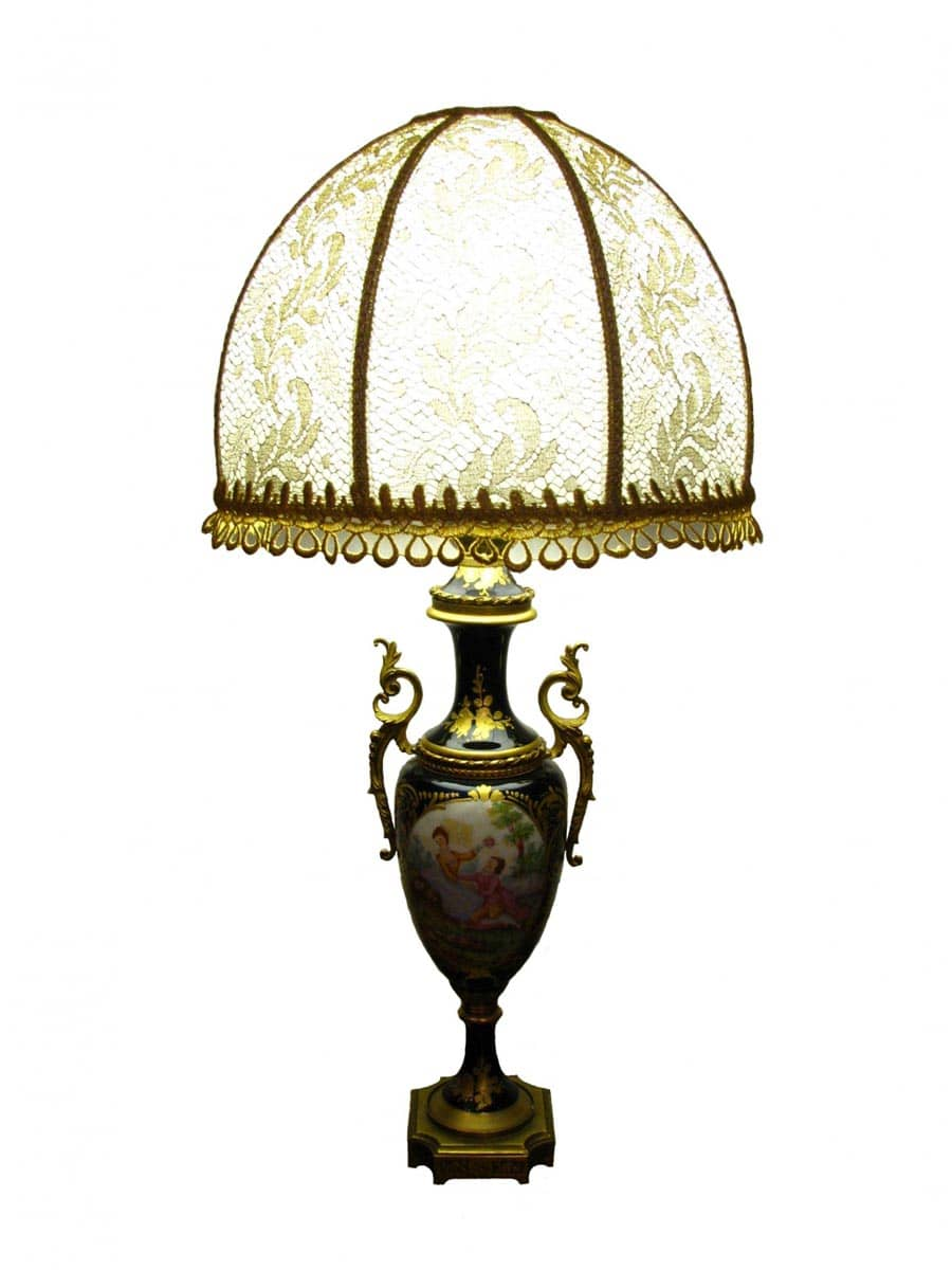 Coppia Lampade Porcellana Francese - Ghilli Antiquariato a Milano