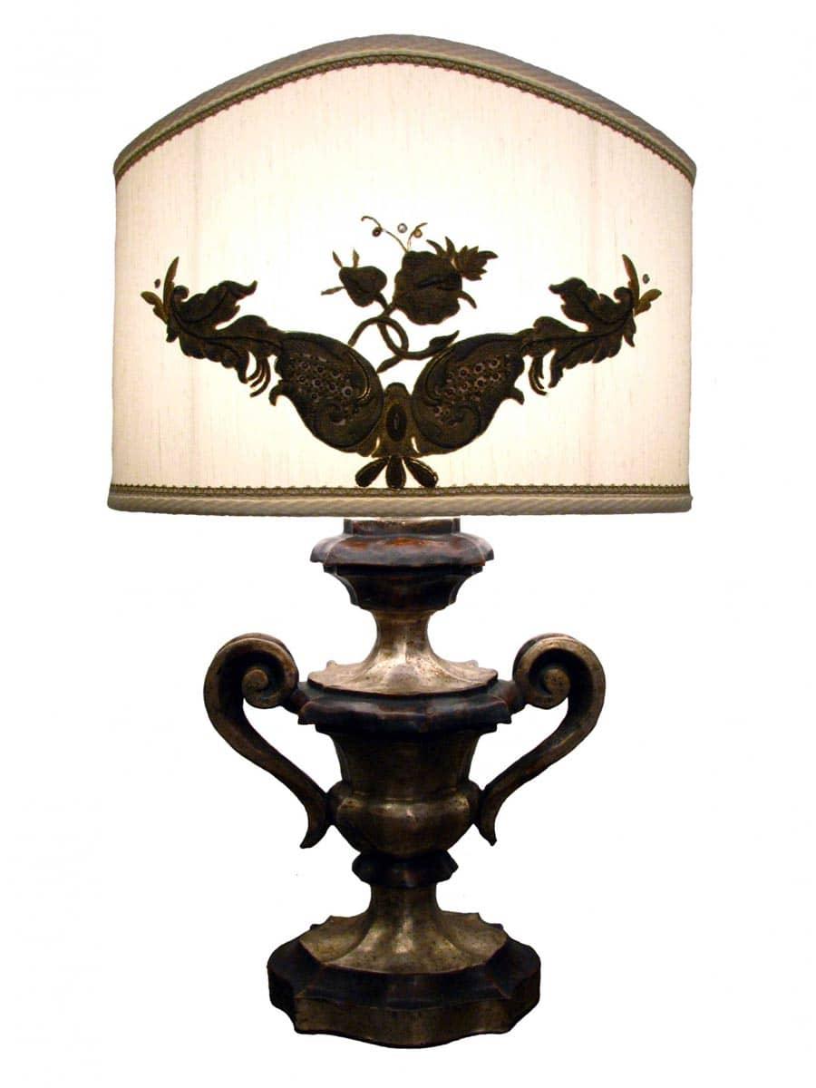Lampada da tavolo legno in legno argentato ghilli for Regalo tavolo milano