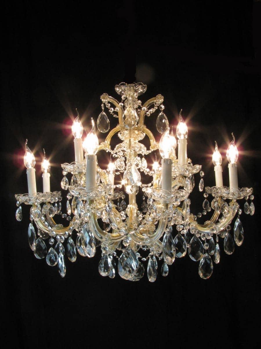 lampadario di cristallo : cristallo di bohemia maria teresa 13 luci lampadario in cristallo di ...