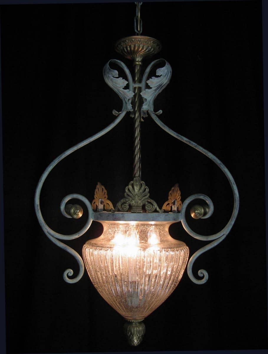 Lampadario Classico A Bracci Rialto Cantori : Lampadario in ferro e legno