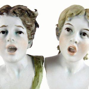 busti di bimbi in porcelllana