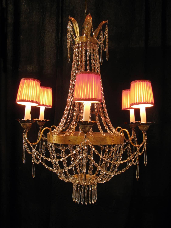 Lampadario Antico Luigi XVI A Sei Luci #C28009 1125 1500 Sala Da Pranzo Lampadari