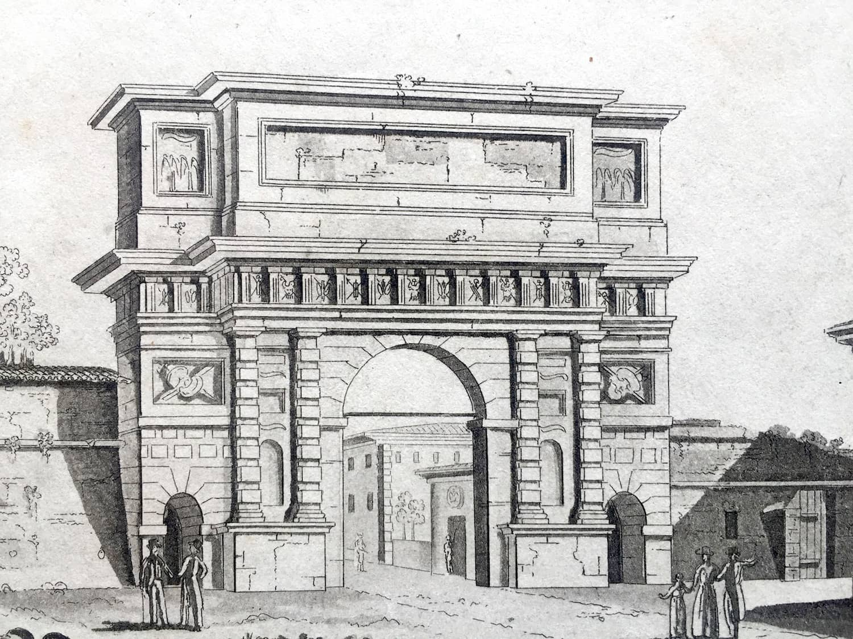 Stampa antica di milano porta romana - Stanza singola milano porta romana ...
