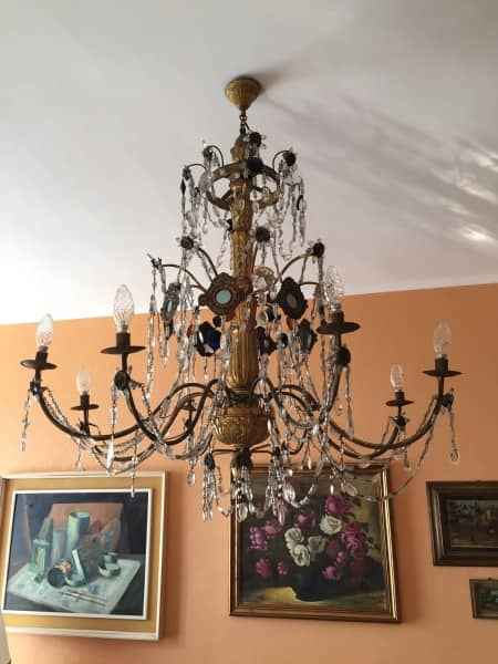 lampadari in bronzo : lampadari luigi xvi genovesi fine 1700 coppia di antichi lampadari ...