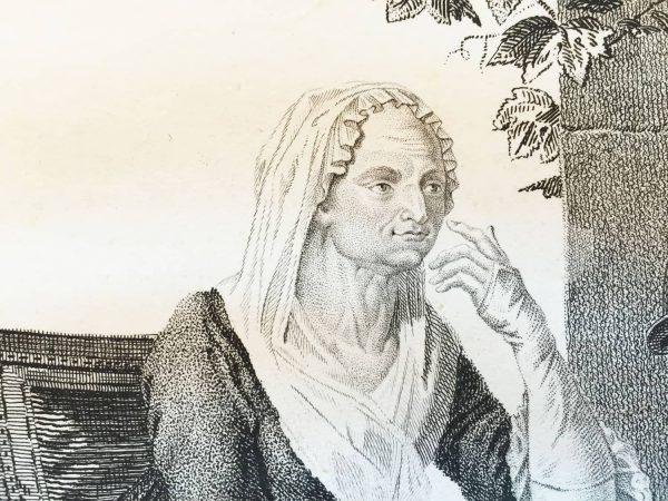 Stampa antica Maria Gaetana Agnesi