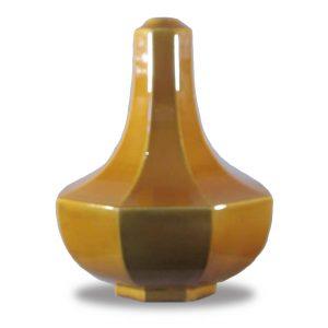 Base lampada in ceramica ocra