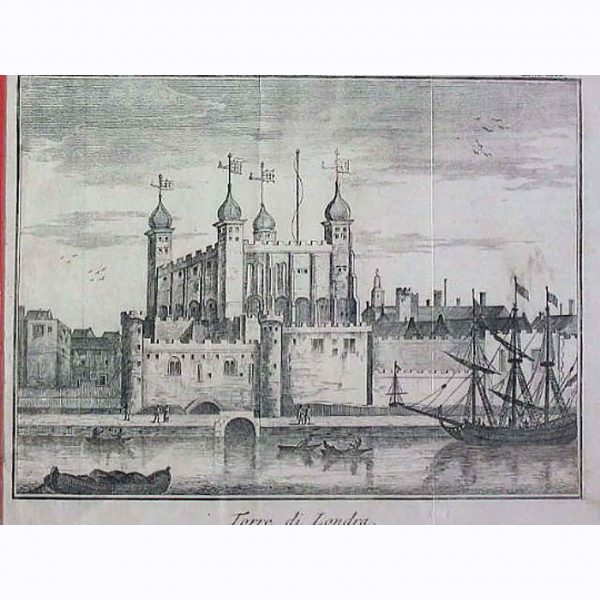 Tower of London, Antique print