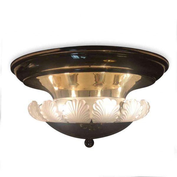 Italian Banci Firenze 1980s Ceiling Light Brass Eight-light Ceiling Fixture