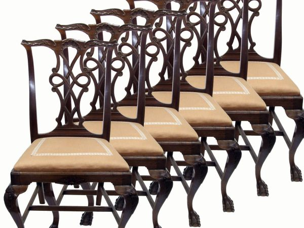 Early 20th century Six Queen Ann Mahogany Chairs