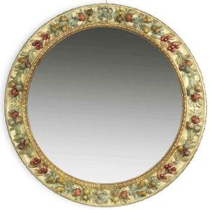 specchiera-tonda-in-legno-intagliato-policromo