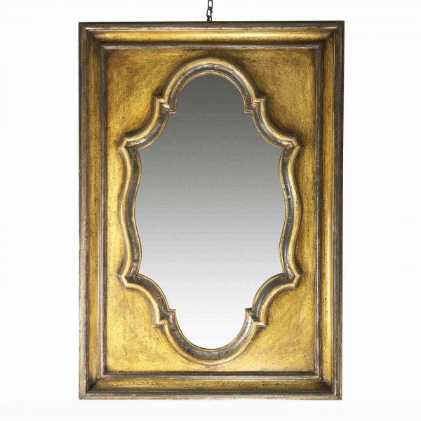 Modern painted wooden mirror