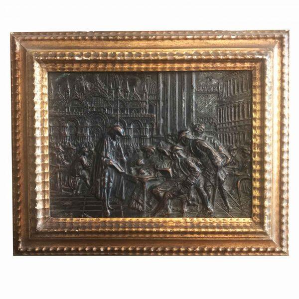 Late 19th Century Venetian Papier Mache Bas-Relief