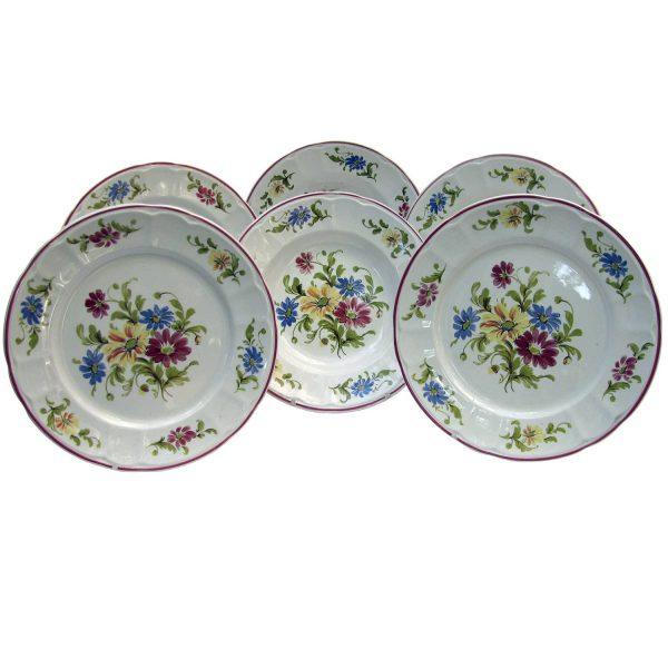 Lot of 6 ceramic dishes – Besio Mondovì