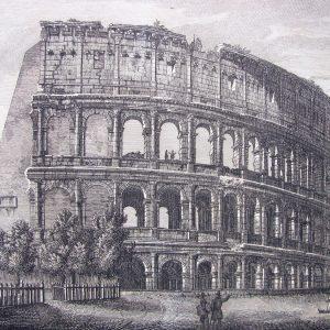 Roma-Stampa-antica-Colosseo-Esterno-dell´Anfiteatro-Flavio-1834