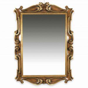 specchiera sagomata in legno laccato