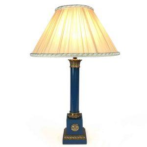 lampada da scrivania laccata con bronzi