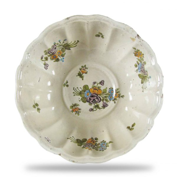 Large 18th Century Italian Majolica Centerpiece Bowl from Lodi