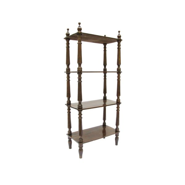 Late 19th century Walnut Etagere