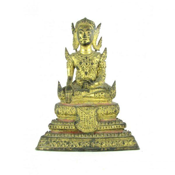 Early 20th century Oriental Bronze Goddess Figure
