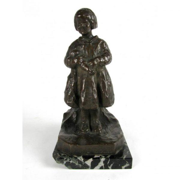 20th Century Bronze Casting Child Figure signed Zacchetti