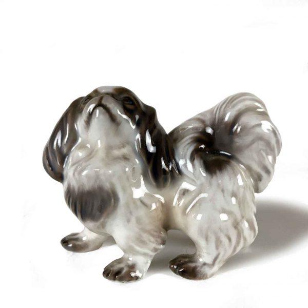 Pekinese Puppy Porcelain Figurine by Dahl Jensen