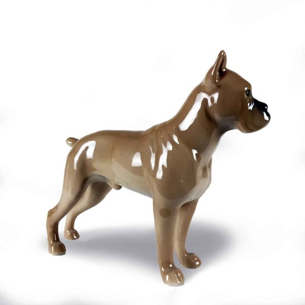 Figura di Boxer in porcellana Bing & Grondahl
