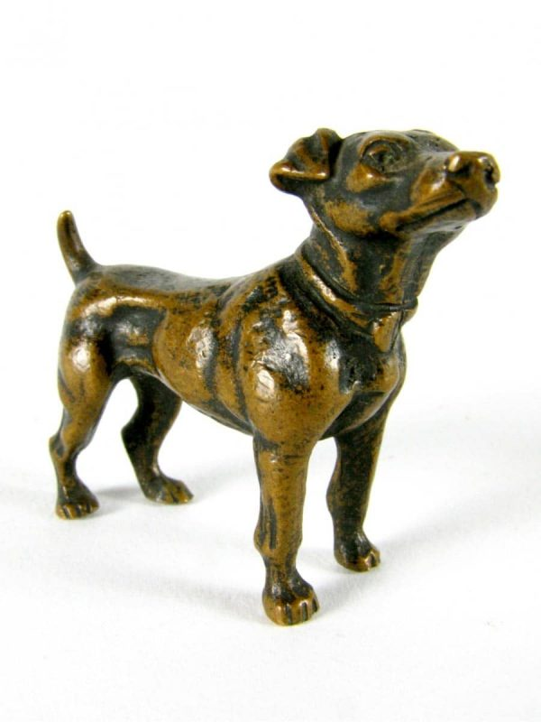 Early 20th century Bronze Jack Russel Dog Figure
