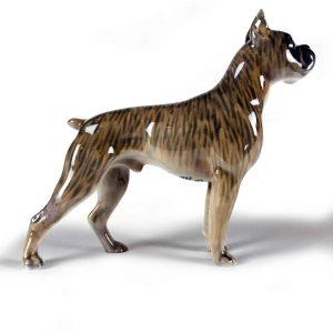 figura di cane boxer tigrato in porcellana