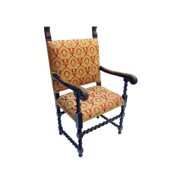 Antique Italian walnut armchair