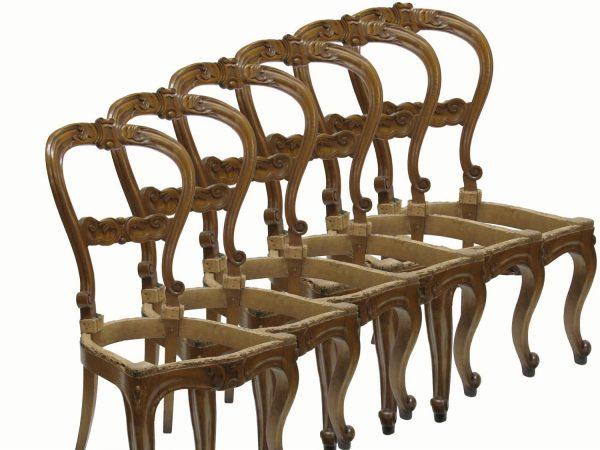 sei sedie antiche in olmo d 39 epoca luigi filippo