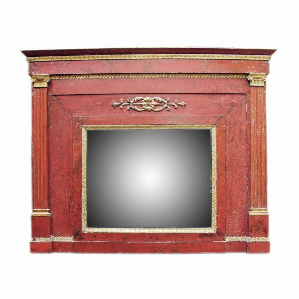 Early 19th Century Italian Neoclassical Overmantel Mirror