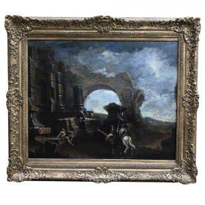 GRANDE PAESAGGIO CON ROVINE DEL 1700