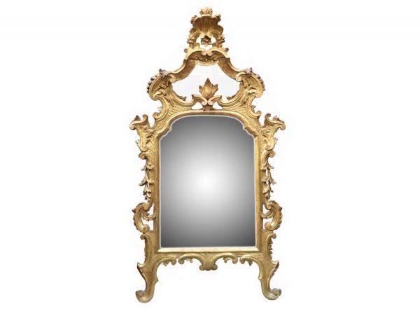 Specchiera Dorata Antica  Luigi XV