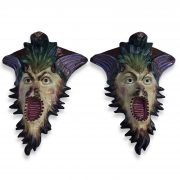 coppia di mensole in ceramica a