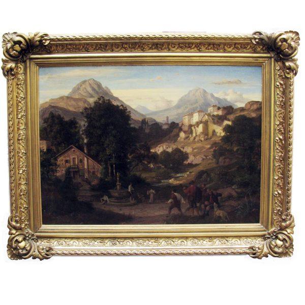 Mountain Landscape signed Eduard Cohen Weimer 1866