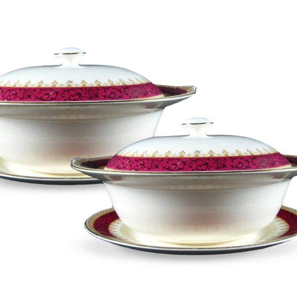 Pair of porcelain tureens