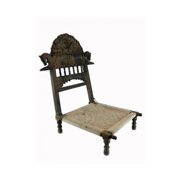 Indian Carved Pida Chair