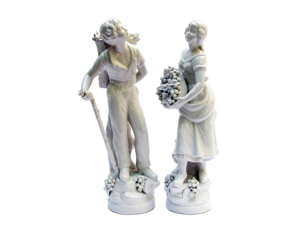 A Pair of Italian Ceramic Figures by Bassano