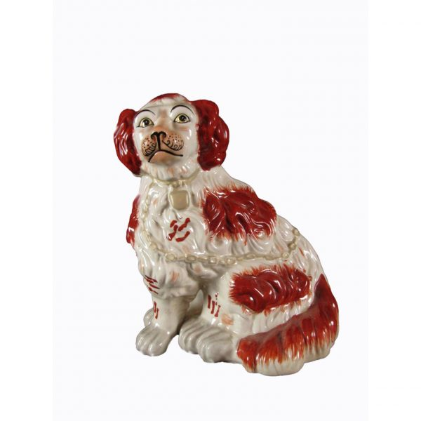 Ceramic dog figure of a Cavalier King Charles
