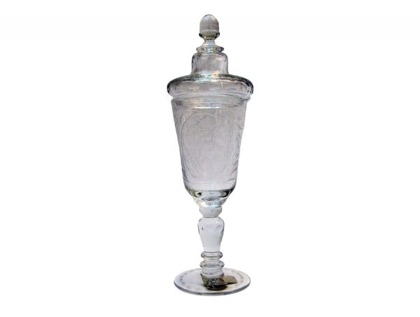20th Century Crystal Vase with Cover