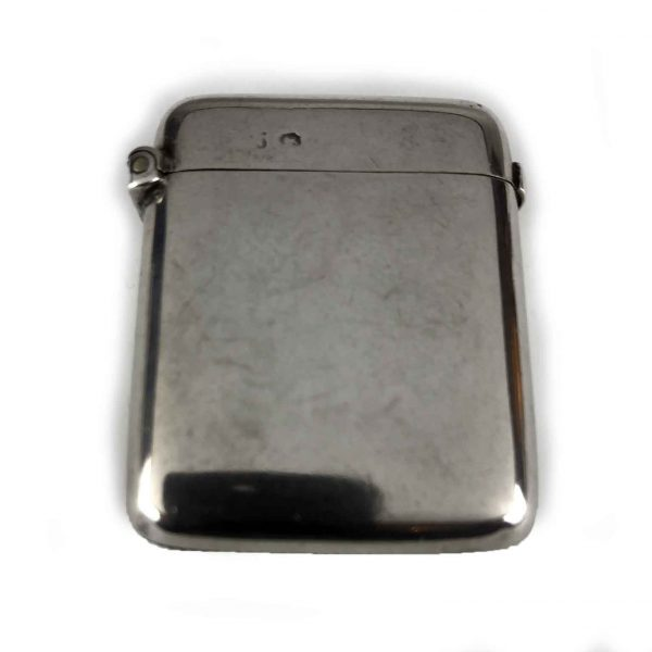 Portafiammiferi da tasca in argento antico