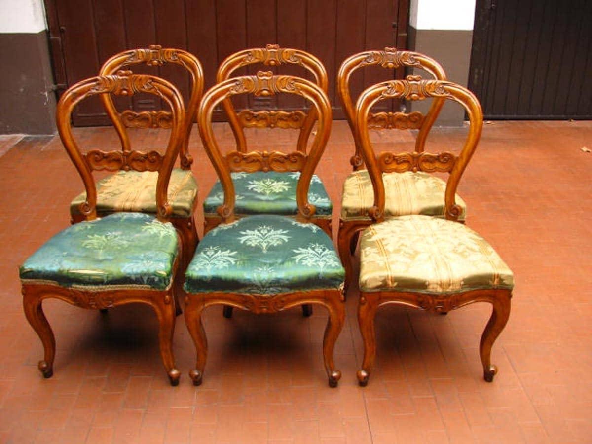 Sei sedie antiche in olmo d 39 epoca luigi filippo for Svendita sedie