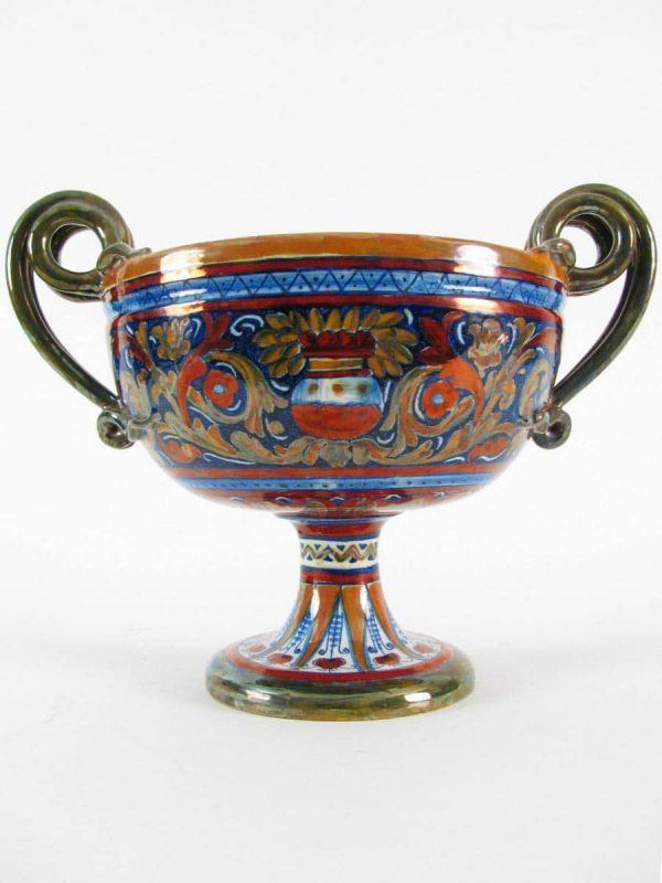 Italian Gualdo Tadino Pottery Vase with Handles