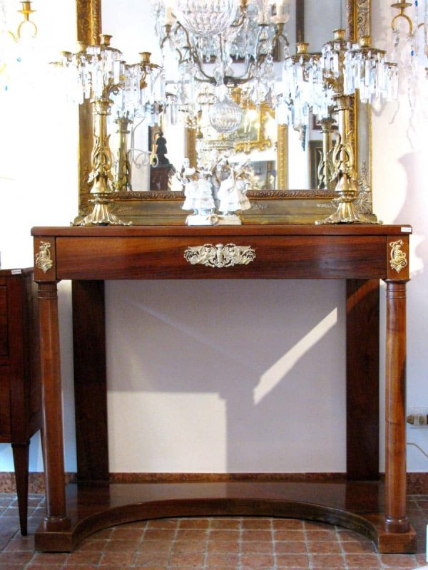 Early 19th century Empire Walnut Consolle