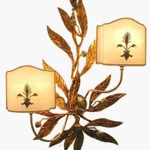 applique-ferro-battuto-dorato-a-2-luci-2369