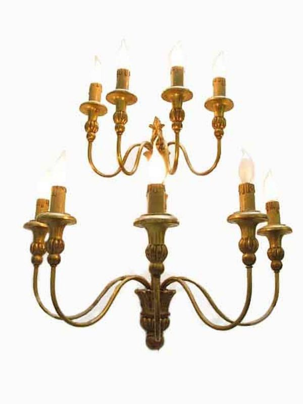Italian giltwood sconce around
