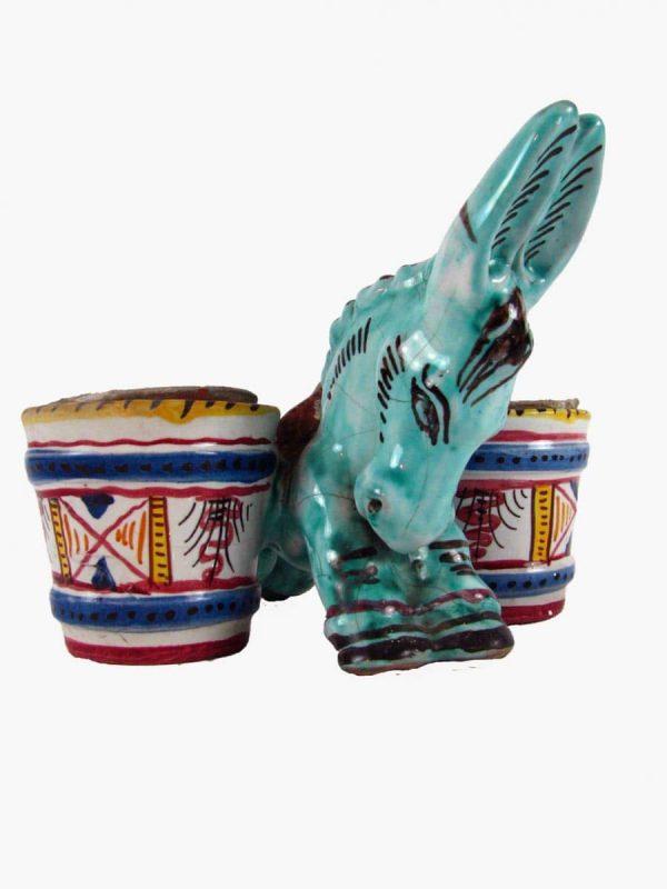 Ceramic Donkey Figure by Deruta