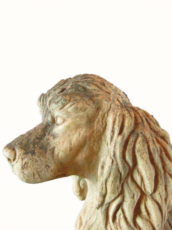 Terracotta Poodle Dog Sculpture