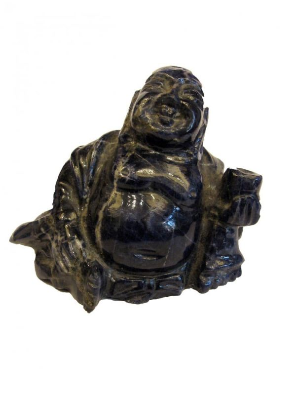 20th Century Hand Carved Lapis oriental Buddha Figure